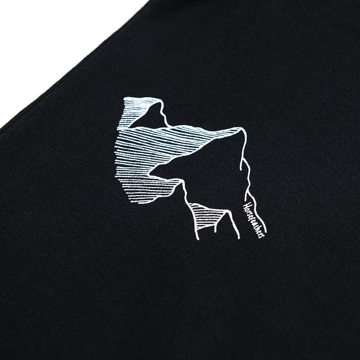 Horsefeathers top Jada black - potisk