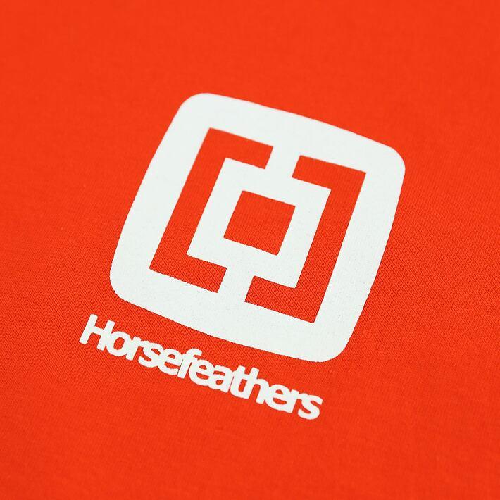 Horsefeathers triko Mini Logo tomato red - potisk