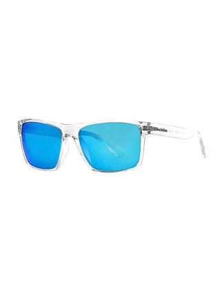 Merlin sunglasses - crystal/mirror blue