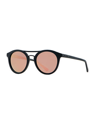 Nomad sunglasses - matt black/mirror rose