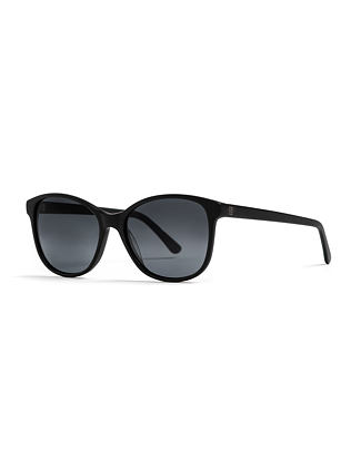 Chloe sunglasses - matt black/gray fade out