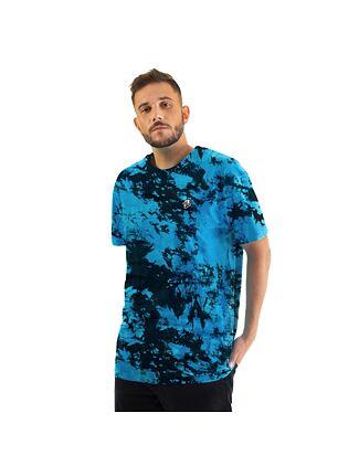 Elmo t-shirt - blue tie dye