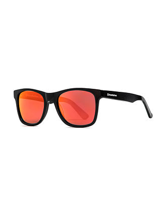 Foster sunglasses - gloss black/mirror red