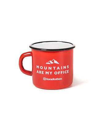 Office enamel cup 0,3 l - red