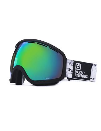 HF x Melon Optics Chief goggles - black birch/green chrome