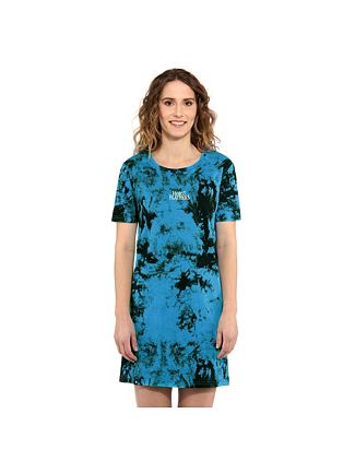 Lexis dress - blue tie dye