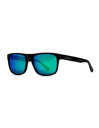 Keaton sunglasses - gloss black/mirror green