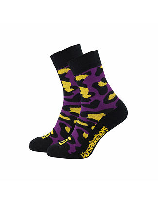Leopard socks - purple