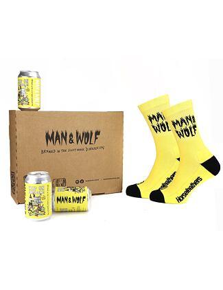 Man & Wolf set (socks + lager box)
