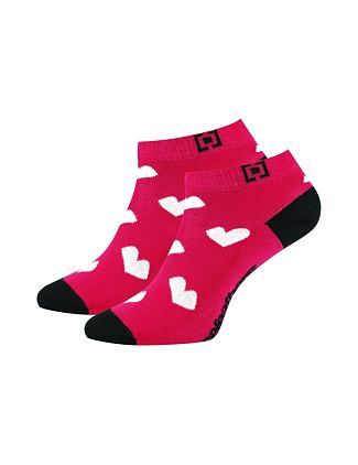 Heart socks - rose red