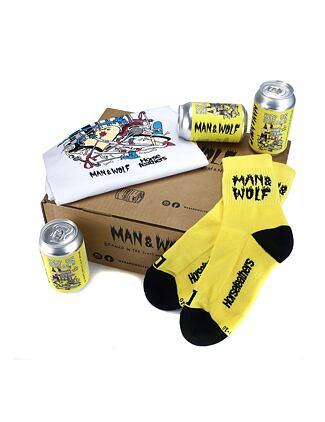 Man & Wolf set (t-shirt + socks + lager box)