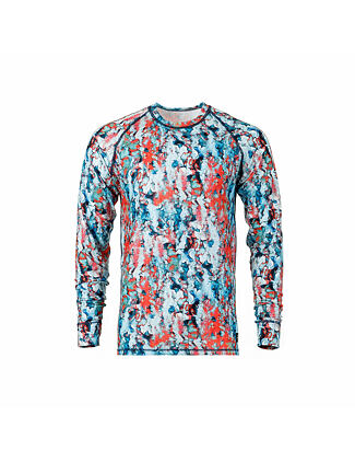 Riley L/S tech tee - painter