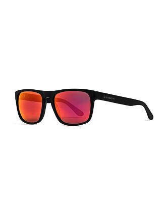 Keaton sunglasses - matt black/mirror red