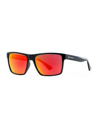 Merlin sunglasses - gloss black/mirror red