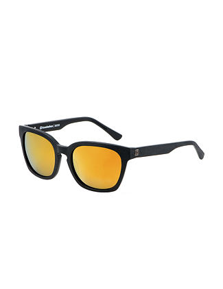 Chester sunglasses - brushed black/mirror gold