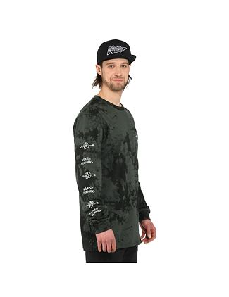 Shaft LS t-shirt - gray tie dye