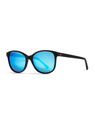 Chloe sunglasses - matt black/mirror blue