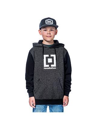 Leader Youth hoodie - black melange