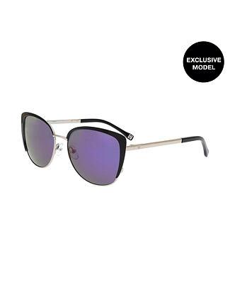 Tez sunglasses - silver/mirror purple