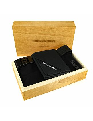 All black gift box (wallet + belt + socks 3pack)