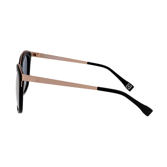 Scarlett sunglasses - matt black/mirror rose