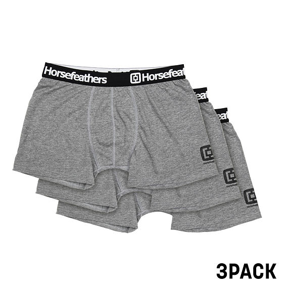 Horsefeathers boxerky Dynasty 3pack heather gray