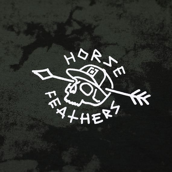 Horsefeathers triko Shaft LS gray tied dye - potisk