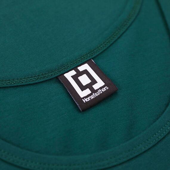 Horsefeathers tílko Shaft Tank bistro green - label