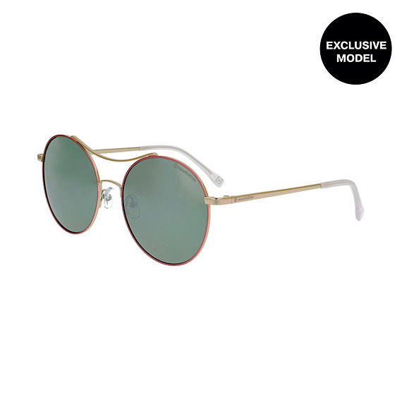 Coney sunglasses - silver/mirror gray green
