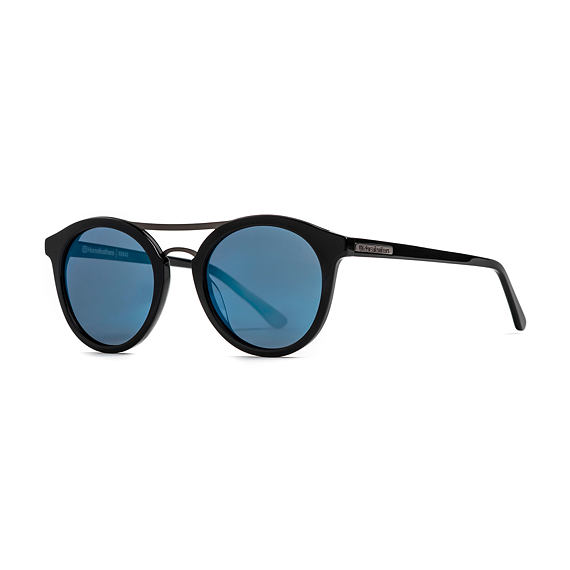 Nomad sunglasses - gloss black/mirror blue