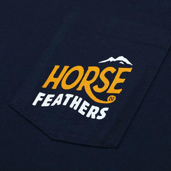 Horsefeathers triko Crest eclipse - potisk