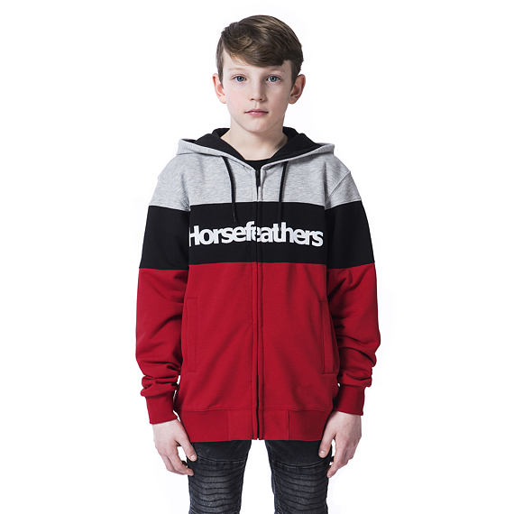 Trevor Youth hoodie - lava red