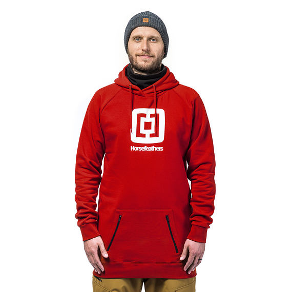 Sherman Long hoodie - red