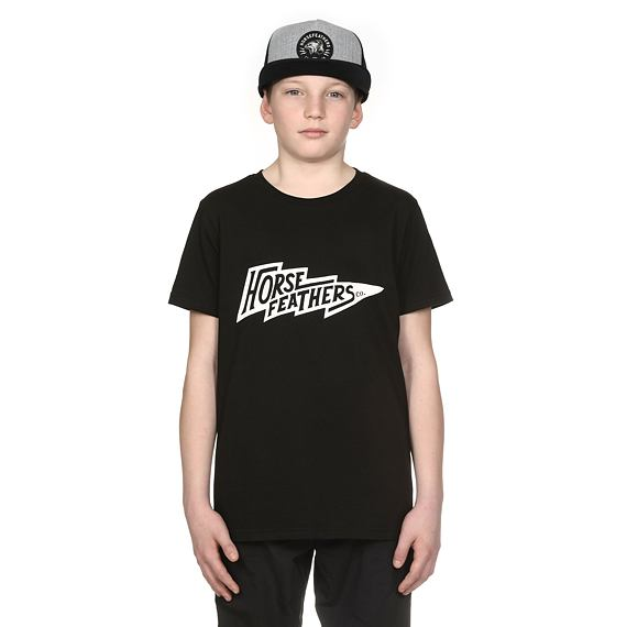 Horsefeathers triko Fang Youth black