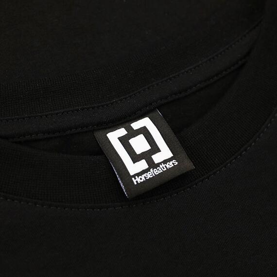 Horsefeathers triko Shaft black - label