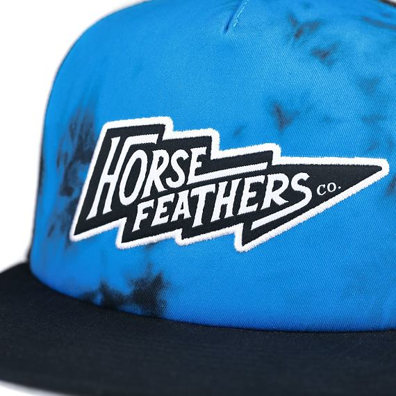 Horsefeathers kšiltovka Blaine blue tie dye - výšivka