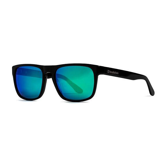 Sluneční brýle Horsefeathers Keaton - gloss black/mirror green