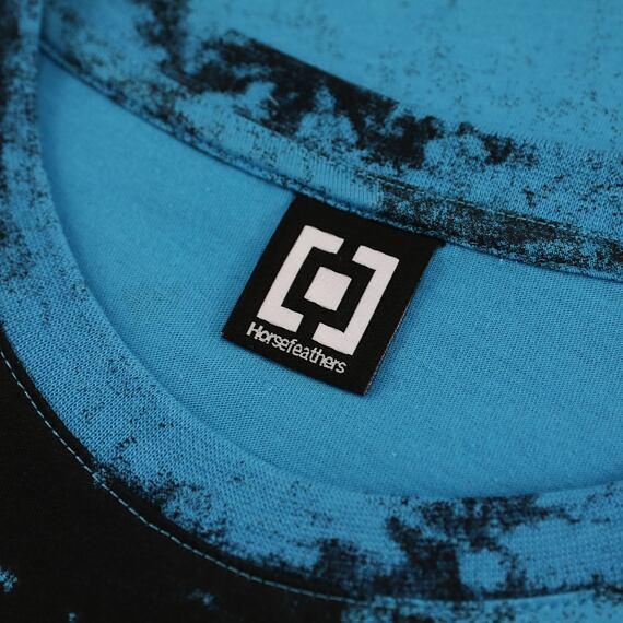 Horsefeathers triko Elmo blue tie dye - label