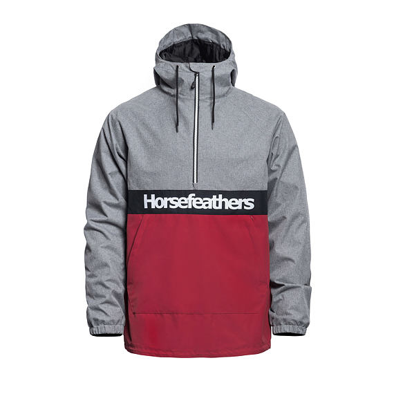 Horsefeathers jarní nepromokavá bunda Perch - heather gray