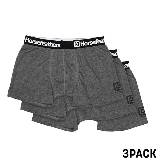 Horsefeathers boxerky Dynasty 3pack heather anthracite