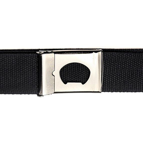 Horsefeathers pásek Idol black - spona s otvírákem