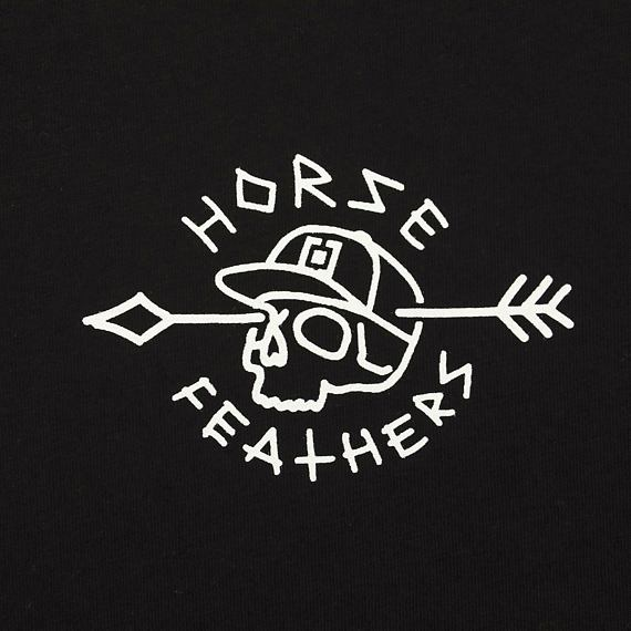 Horsefeathers triko Shaft black - potisk