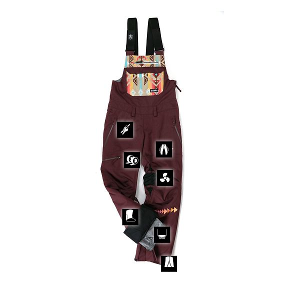 Stella 15 pants - raisin