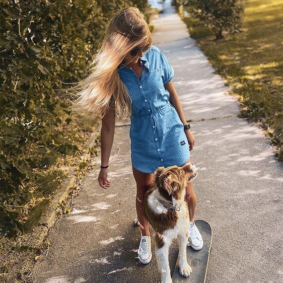 Horsefeathers šaty Mariana light blue