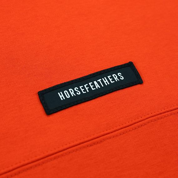 Horsefeathers mikina Skye tomato red - label