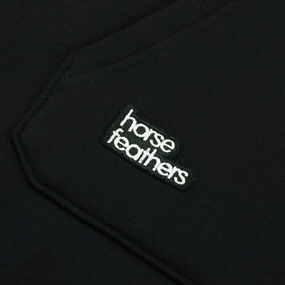 Horsefeathers mikina Alita black melange - label