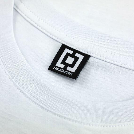 Horsefeathers triko Cornick white - label