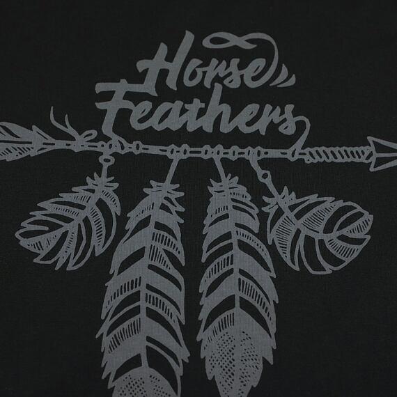 Horsefeathers šaty Kim black - potisk