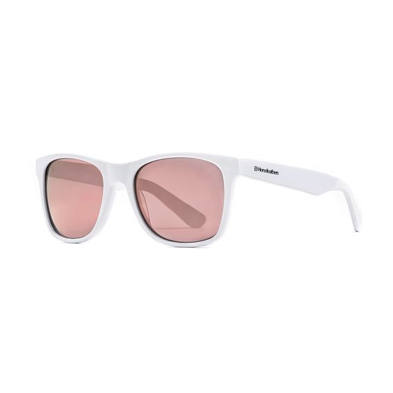 Foster sunglasses - gloss white/mirror rose
