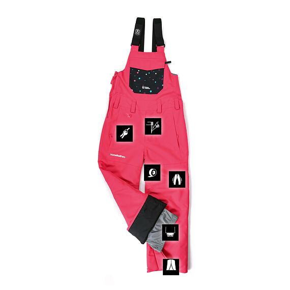 Horsefeathers dětské snowboardové laclové kalhoty Madler Youth - azalea